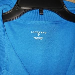 Lands' End Tops - Blue polo type top
